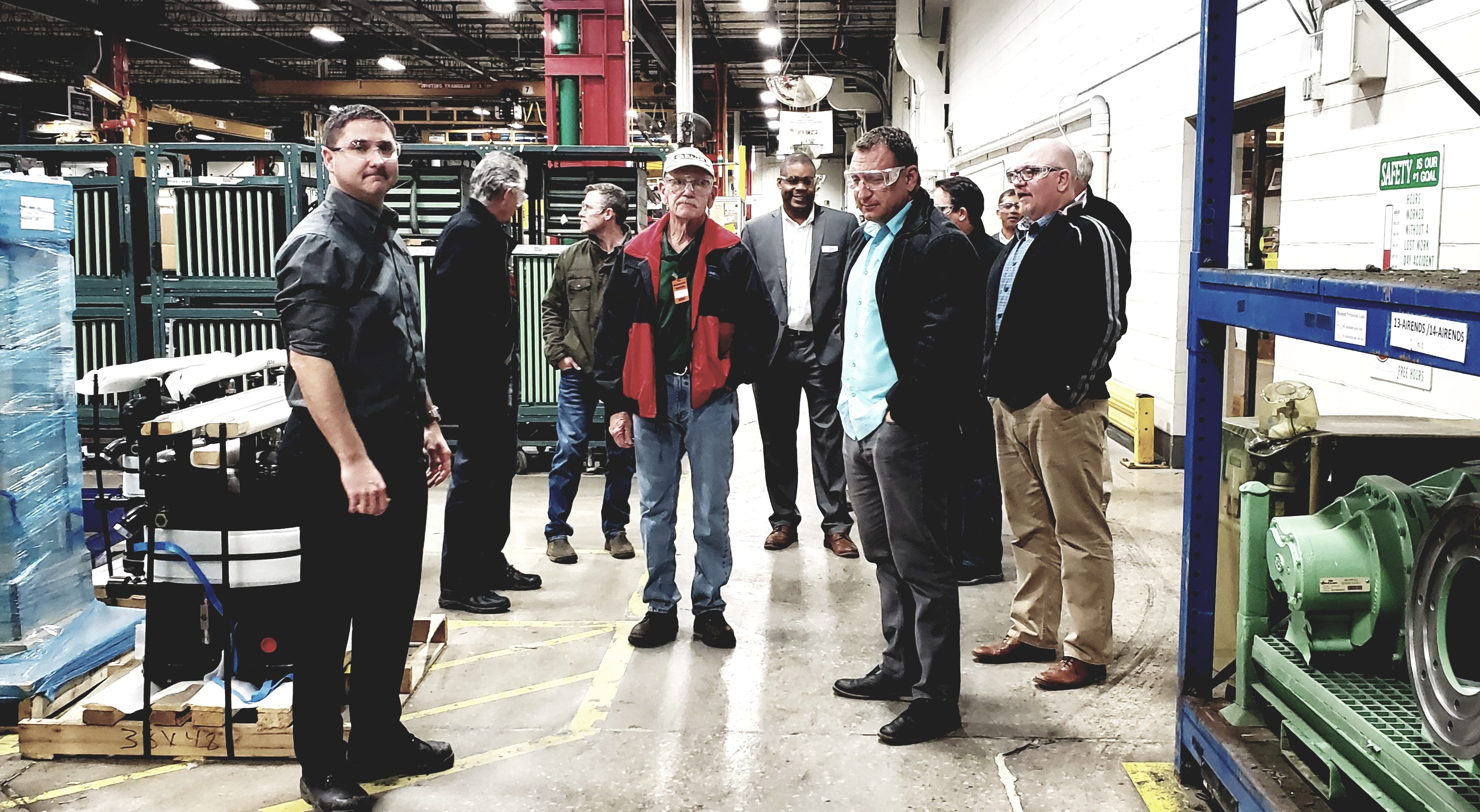 Sullair manufacturer representatives visit the Michigan City facility
