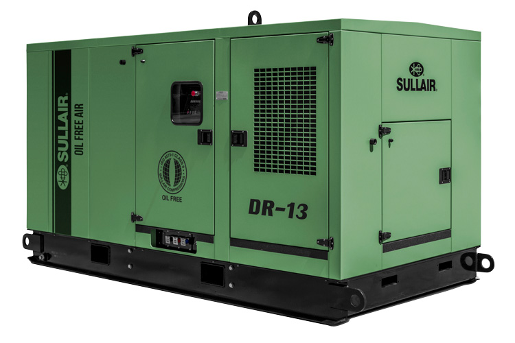 Sullair DR-13 oil free rotary screw air compressor